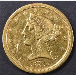 1841-C $5 GOLD LIBERTY  XF MARKS