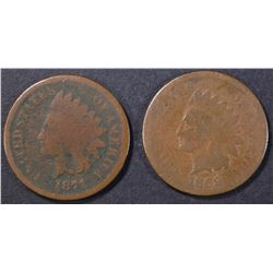 1869 AG & 71 G CORROSION INDIAN CENTS