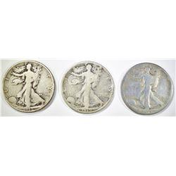 1919-P,D,S WALKING LIBERTY HALF DOLLARS GOOD