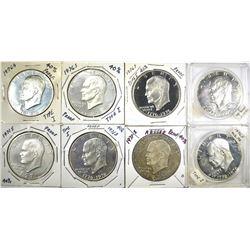 40% SILVER PROOF IKE DOLLARS; 2-1971S,