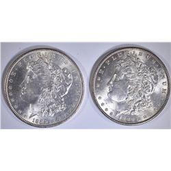 1886 & 89 CH BU MORGAN DOLLARS