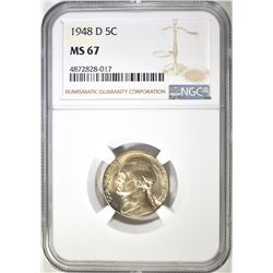 1948-D JEFFERSON NICKEL NGC MS-67