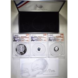 2015 MARCH OF DIMES 3-PIECE SET, ANACS PR-70 DCAM