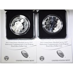 2-2015 U.S. MARSHALLS Pf COMMEM SILVER DOLLARS