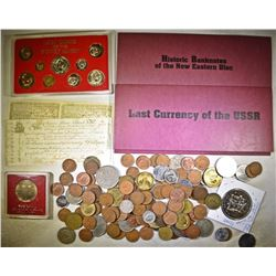FOREIGN COIN & CURRENCY LOT: