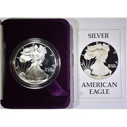 1986 PROOF SILVER EAGLE WITH BOX/COA