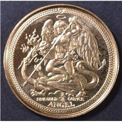 1986 ISLE OF MAN 1/4 oz GOLD ANGEL
