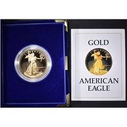 1986 PROOF GOLD EAGLE 1 oz WITH BOX & CERT
