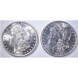 1882-O & 83-O MORGAN DOLLARS CH BU