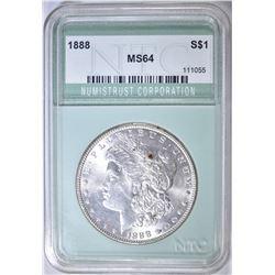 1888 MORGAN DOLLAR NTC CH/GEM BU