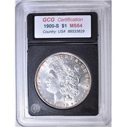 1900-S MORGAN DOLLAR GCG CH BU