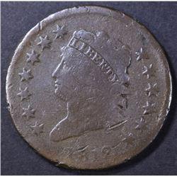 1812 LARGE CENT, G/VG marks
