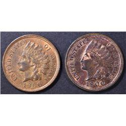1900 BU RB & 1906 AU/BU INDIAN CENTS