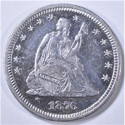 1876 SEATED LIBERTY QUARTER AU/BU