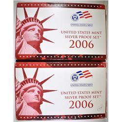 2-2006 U.S. SILVER PROOF SETS ORIG PACKAGING