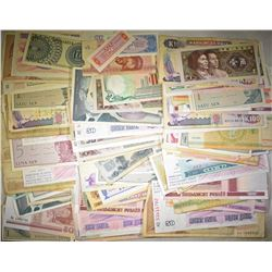175 PIECES RANDOMLY SELECTED  FOREIGN CURRENCY