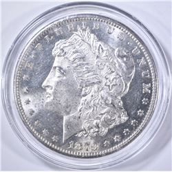1879-S CH BU MORGAN DOLLAR IN PLASTIC CAPSULE