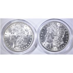 1882-S, 83 CH BU MORGAN DOLLARS IN  CAPSULES