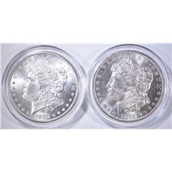 1885 & 85-O CH BU MORGAN DOLLARS IN CAPSULES