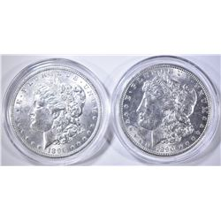 1890 & 96 CH BU MORGAN DOLLARS IN CAPSULES