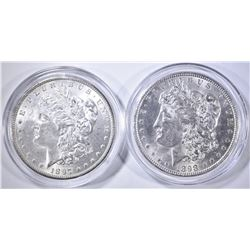 1897 & 98 CH BU MORGAN DOLLARS IN CAPSULES