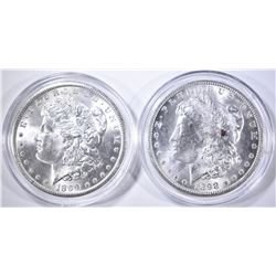 1898-O & 99-O CH BU MORGAN DOLLARS IN CAPSULES