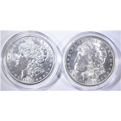 1900 & 1900-O CH BU MORGAN DOLLARS IN CAPSULES