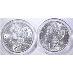 1901-O & 1902-O CH BU MORGAN DOLLARS IN CAPSULES