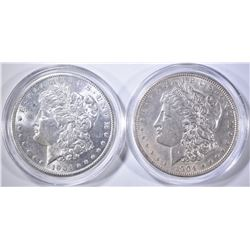 1904 & 1904-O CH BU MORGAN DOLLARS IN CAPSULES