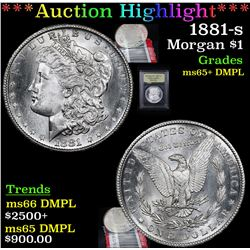 ***Auction Highlight*** 1881-s Morgan Dollar $1 Graded GEM+ DMPL By USCG (fc)