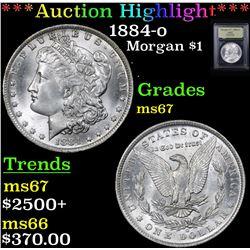 ***Auction Highlight*** 1884-o Morgan Dollar $1 Graded GEM++ Unc By USCG (fc)