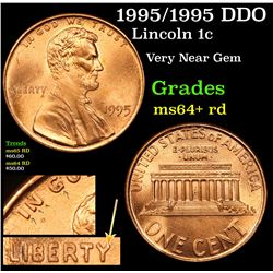 1995/1995 DDO Lincoln Cent 1c Grades Choice+ Unc RD