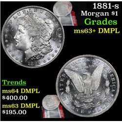 1881-s Morgan Dollar $1 Grades Select Unc+ DMPL