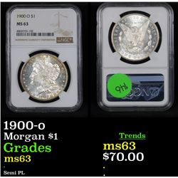 NGC 1900-o Morgan Dollar $1 Graded ms63 By NGC