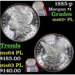 1885-p Morgan Dollar $1 Grades Select Unc+ PL