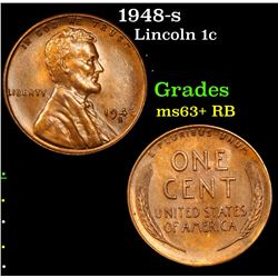 1948-s Lincoln Cent 1c Grades Select+ Unc RB