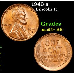 1946-s Lincoln Cent 1c Grades Select+ Unc RB