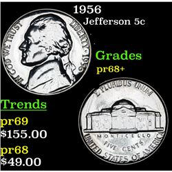 1956 Jefferson Nickel 5c Grades GEM++ Proof
