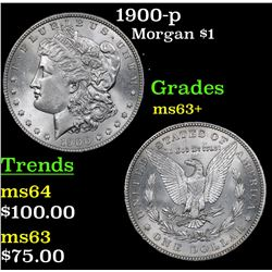 1900-p Morgan Dollar $1 Grades Select+ Unc