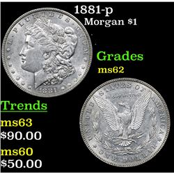1881-p Morgan Dollar $1 Grades Select Unc