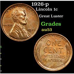 1926-p Lincoln Cent 1c Grades Select AU