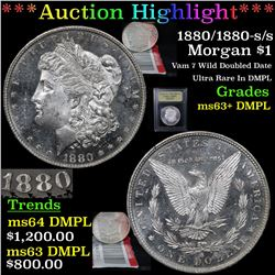***Auction Highlight*** 1880/1880-s/s Morgan Dollar $1 Graded Select Unc+ DMPL By USCG (fc)