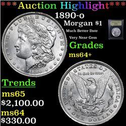 ***Auction Highlight*** 1890-o Morgan Dollar $1 Graded Choice+ Unc By USCG (fc)