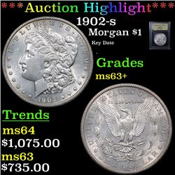 ***Auction Highlight*** 1902-s Morgan Dollar $1 Graded Select+ Unc By USCG (fc)