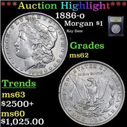 ***Auction Highlight*** 1886-o Morgan Dollar $1 Graded Select Unc By USCG (fc)