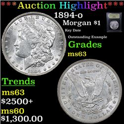 ***Auction Highlight*** 1894-o Morgan Dollar $1 Graded Select Unc By USCG (fc)
