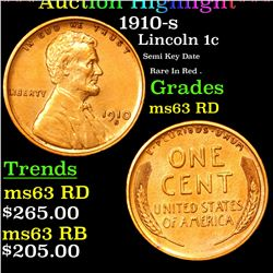 1910-s Lincoln Cent 1c Graded Select Unc RD (fc)