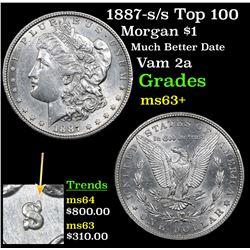 1887-s/s Top 100 Morgan Dollar $1 Grades Select+ Unc