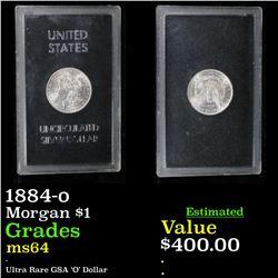 ***RARE GSA 1884-o Morgan Dollar $1 Grades ms64