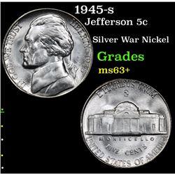 1945-s Jefferson Nickel 5c Grades Select+ Unc